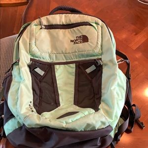 North Face Backpack. Mint Green
